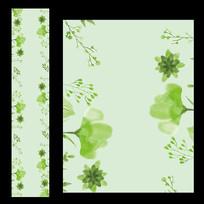 绿色小清新婚礼T台设计素材
