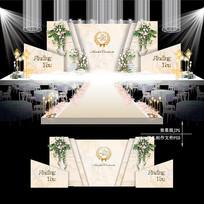 香槟色大理石纹婚礼效果图设计婚庆背景