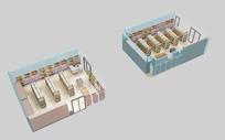 超市室内场景模型