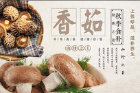 高端大气香菇宣传海报