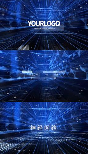 高科技穿梭文字logo片头视频模板