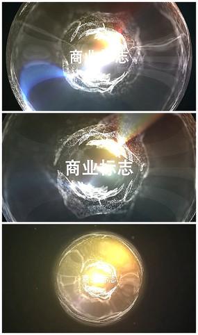 简约粒子光球爆炸企业logo视频模板