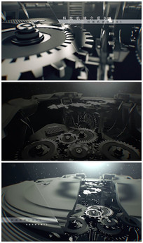 机械齿轮片头AE模板