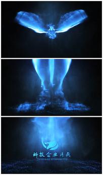 蓝光科技雄鹰展翅带出logo视频模板