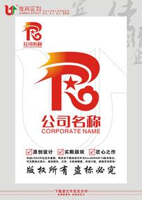 RJT英文字母五角星标志设计 CDR