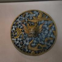 彩色龙纹浮雕图案