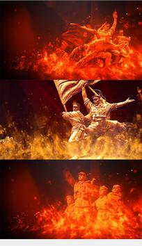 国际歌大合唱舞台背景视频素材