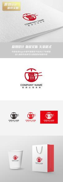 红色简约面馆店面logo设计