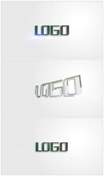 简洁明亮logo视频模板