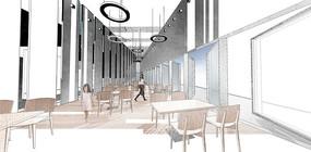精细PSD分层餐厅拼贴风效果图  PSD