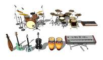 吉他架子鼓音乐乐器器材组合