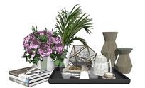 现代花瓶花卉摆件组合