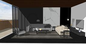 现代客厅布艺组合沙发