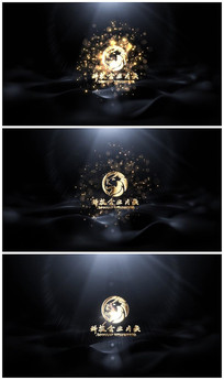 震撼粒子金属logo演绎片头视频 模板