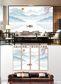 简约客厅水墨山水装饰画