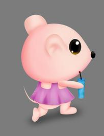 可爱卡通动物老鼠手绘