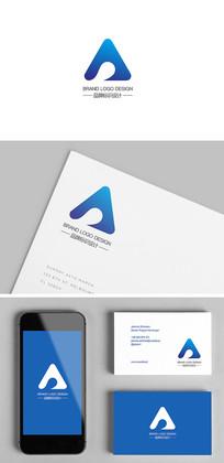 蓝色电子科技产品企业标志logo