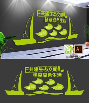 绿色节能环保文化墙