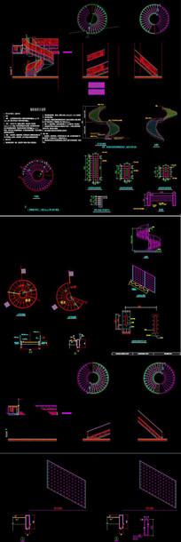 旋转楼梯CAD图库
