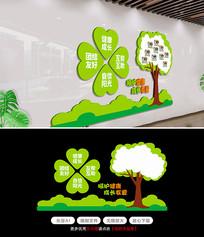 绿色校园风采照片墙幼儿园文化墙形象墙