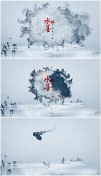 PR中国风水墨片头模板