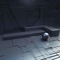 暗黑科技背景元素