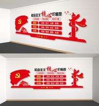 党建社会主义核心价值党建文化墙