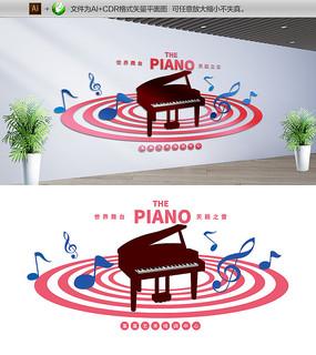钢琴音乐培训教室文化墙
