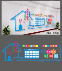 简约志愿者服务文化墙设计