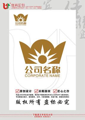 金元宝太阳LOGO标志设计