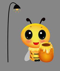 可爱卡通动物蜜罐小蜜蜂