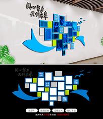 企业楼道文化墙形象墙创意员工风采照片墙