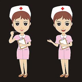 矢量卡通护士