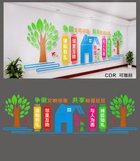 文明和谐社区文化墙设计