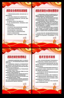 消防知识制度宣传挂画
