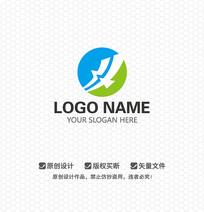 H字母海燕LOGO设计