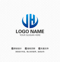 JH商业科技LOGO设计
