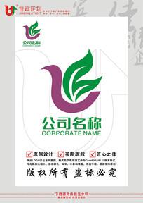 LB英文字母科技标志设计 CDR