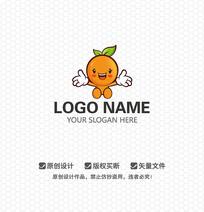 橙子水果餐饮LOGO设计