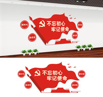党员活动室党建标语文化墙