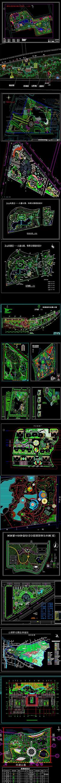 公园景观平面CAD图库