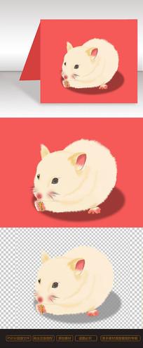 老鼠吃东西 原创元素鼠年福鼠卡通仓鼠
