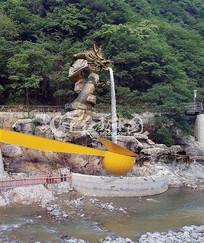龙雕塑假山效果图方案