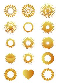 矢量太阳图案