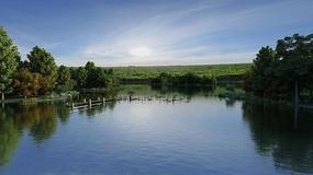 水系景观湖3DMAX模型 max