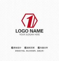 数字1商务LOGO设计