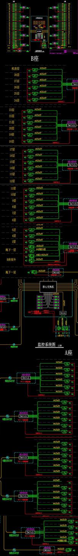 网络监控系统图模板CAD图纸