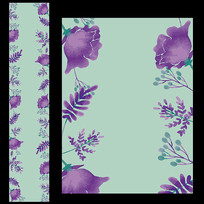 紫色花卉婚礼T台设计