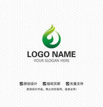 E字母水滴LOGO设计