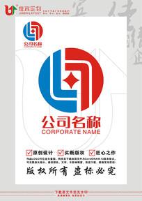 L英文字母金融钱币标志设计